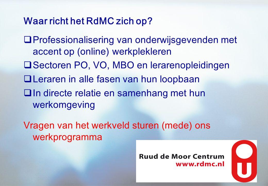 Waar richt het RdMC zich op