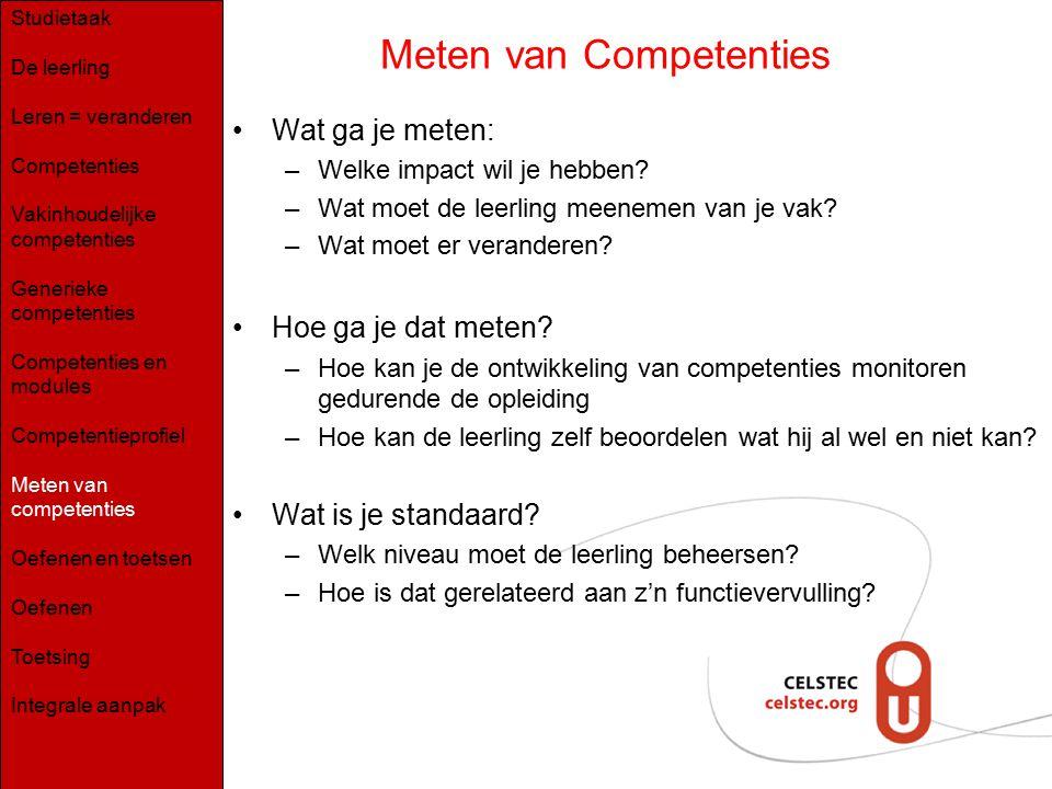 Meten van Competenties