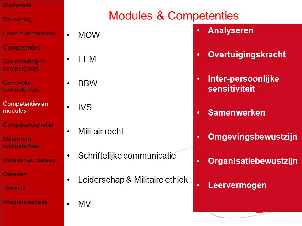 Modules & Competenties