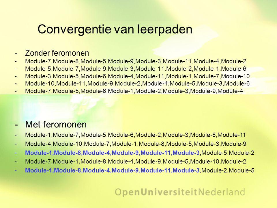 Convergentie van leerpaden