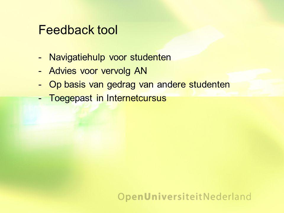 Feedback tool Navigatiehulp voor studenten Advies voor vervolg AN