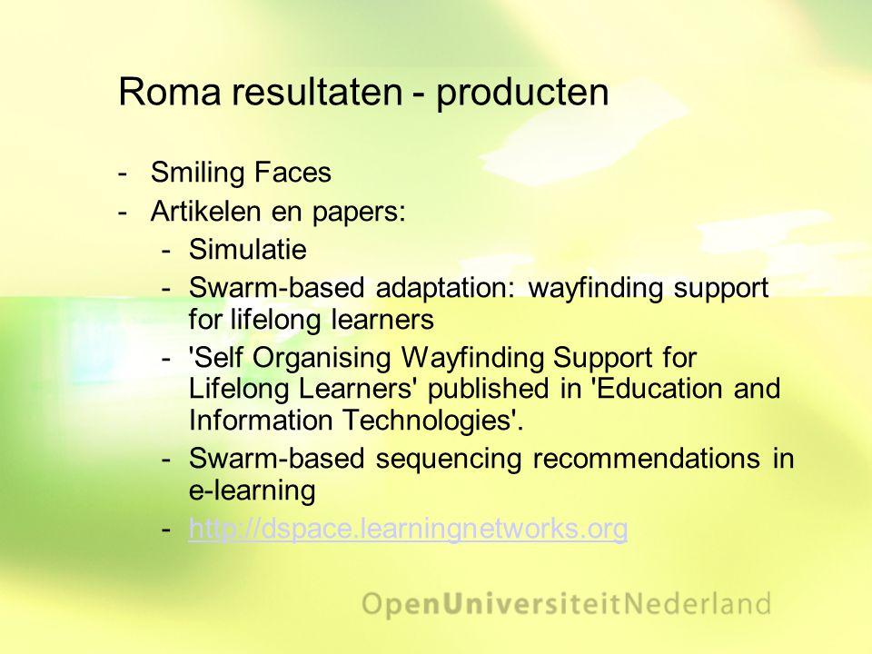 Roma resultaten - producten