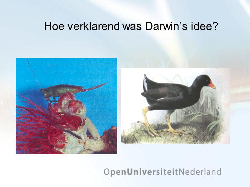 Hoe verklarend was Darwin's idee