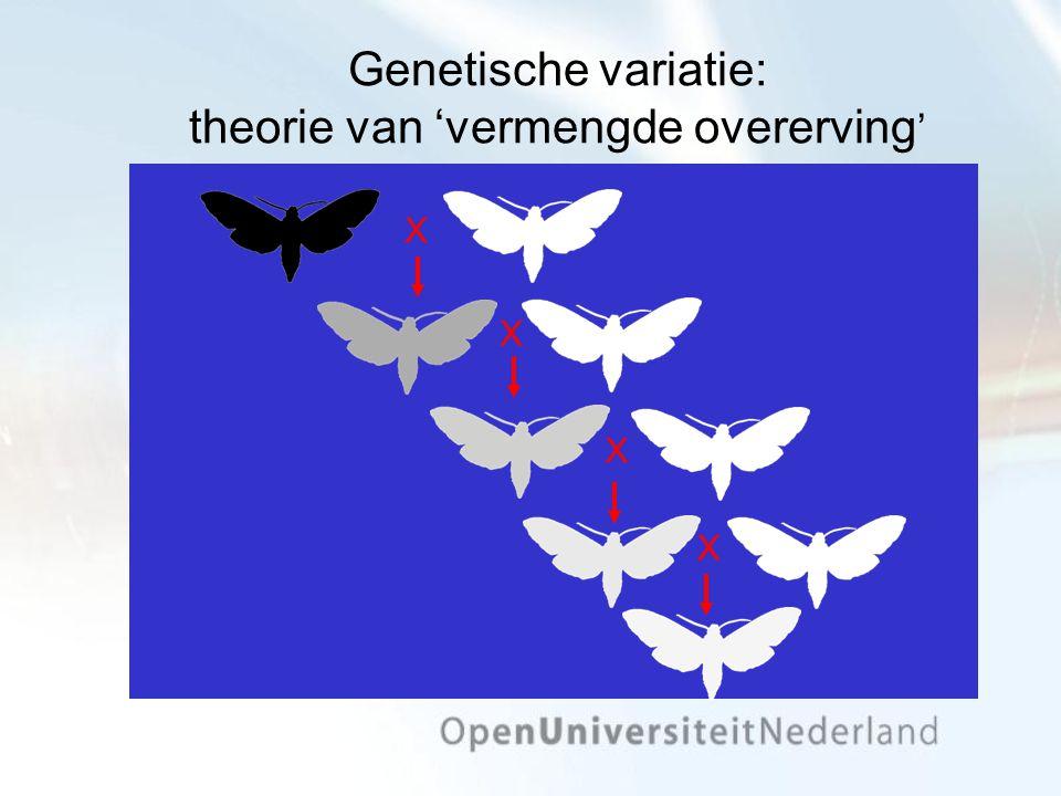Genetische variatie: theorie van 'vermengde overerving'