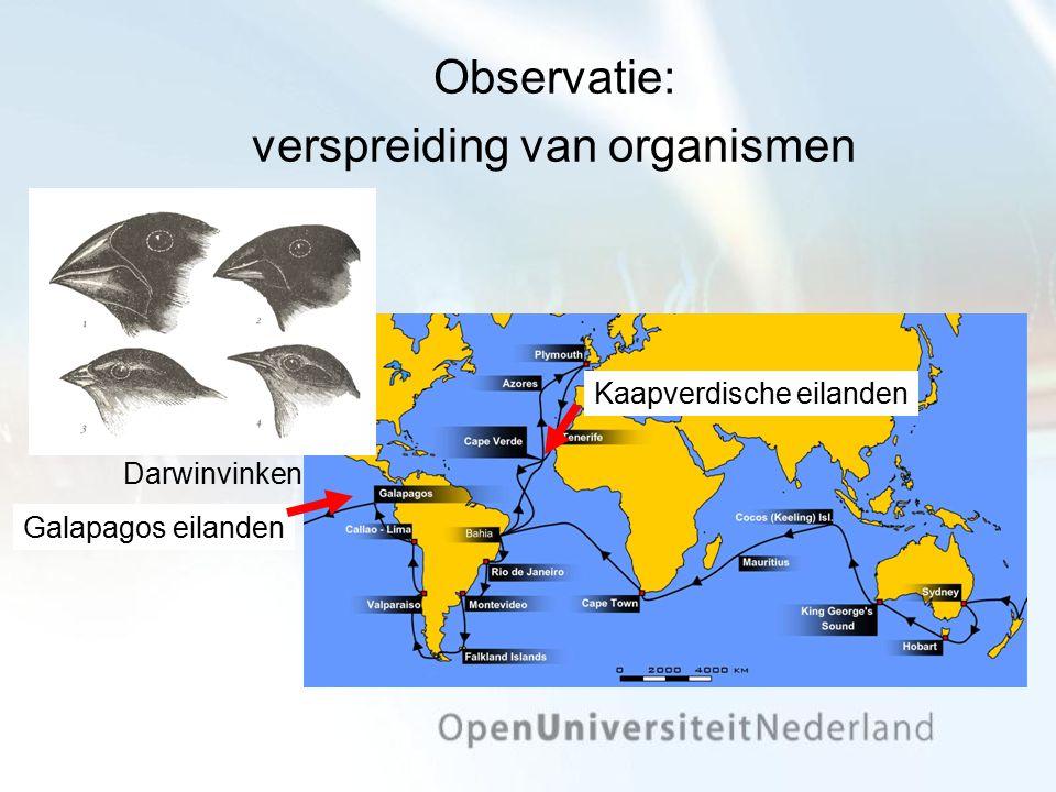 Observatie: verspreiding van organismen