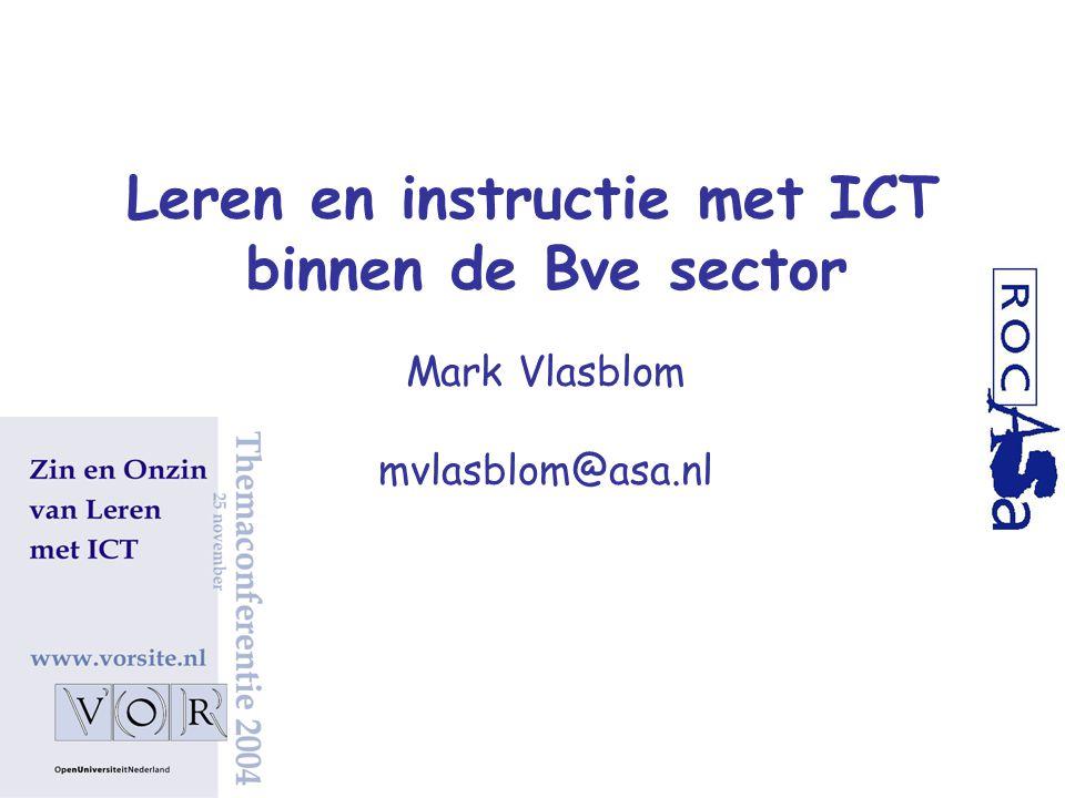 Leren en instructie met ICT