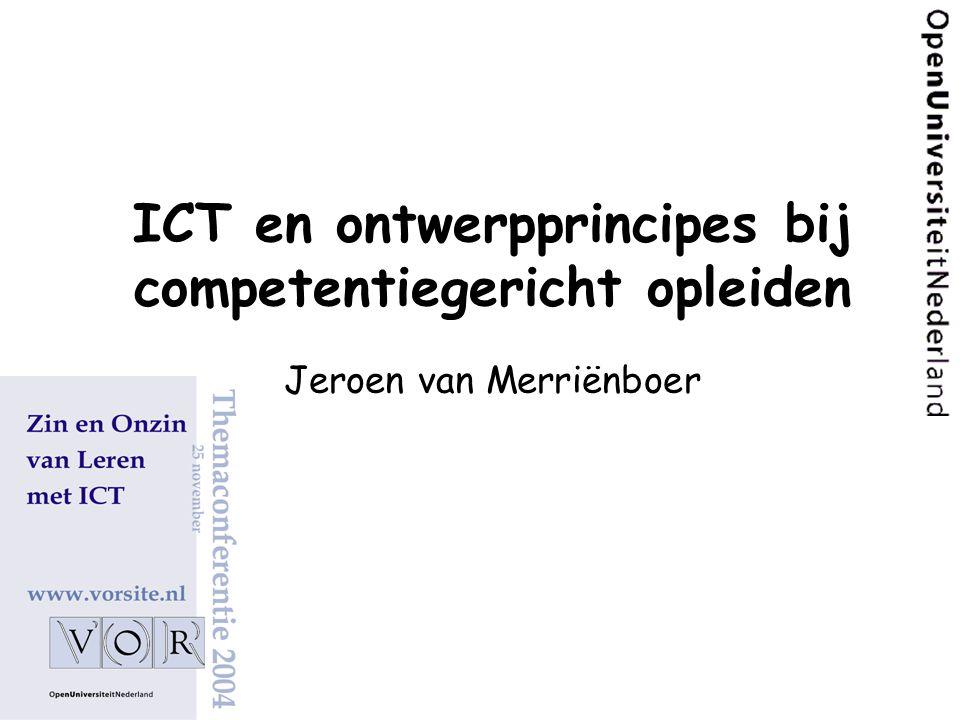 ICT en ontwerpprincipes bij competentiegericht opleiden