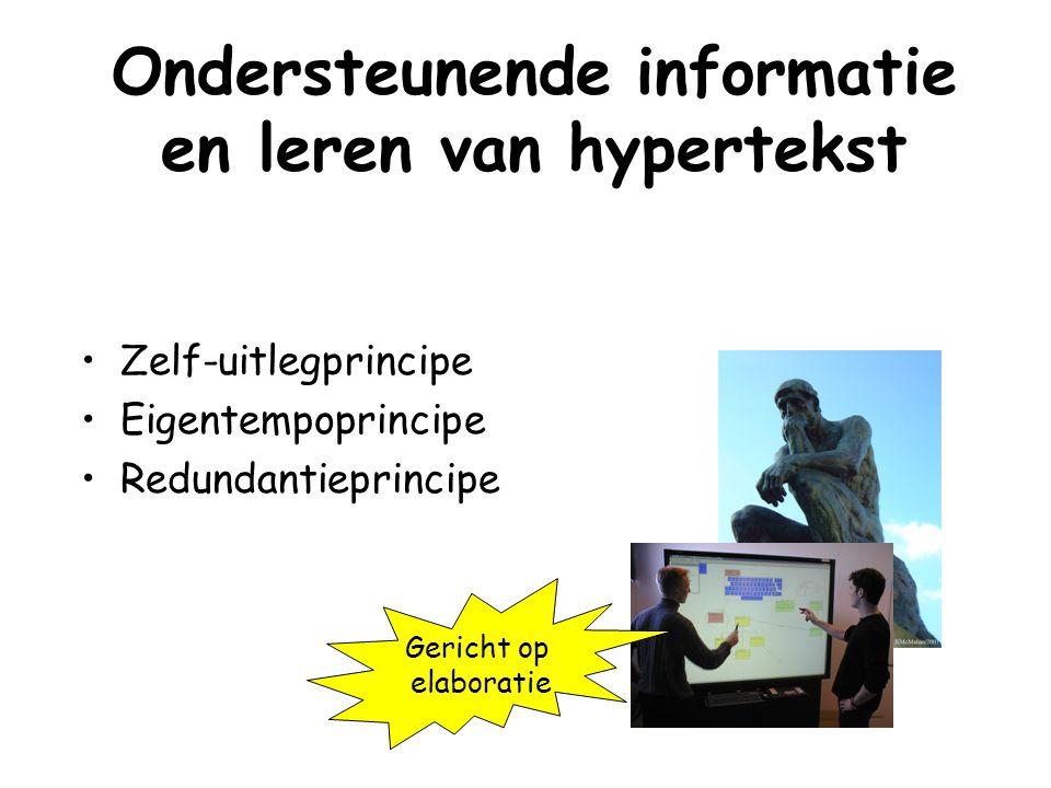Ondersteunende informatie en leren van hypertekst