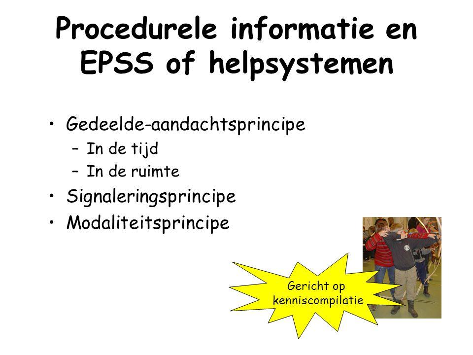 Procedurele informatie en EPSS of helpsystemen