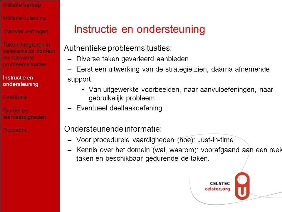 Instructie en ondersteuning
