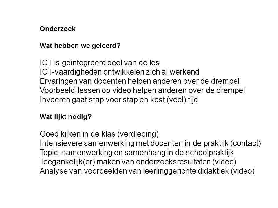 ICT is geintegreerd deel van de les