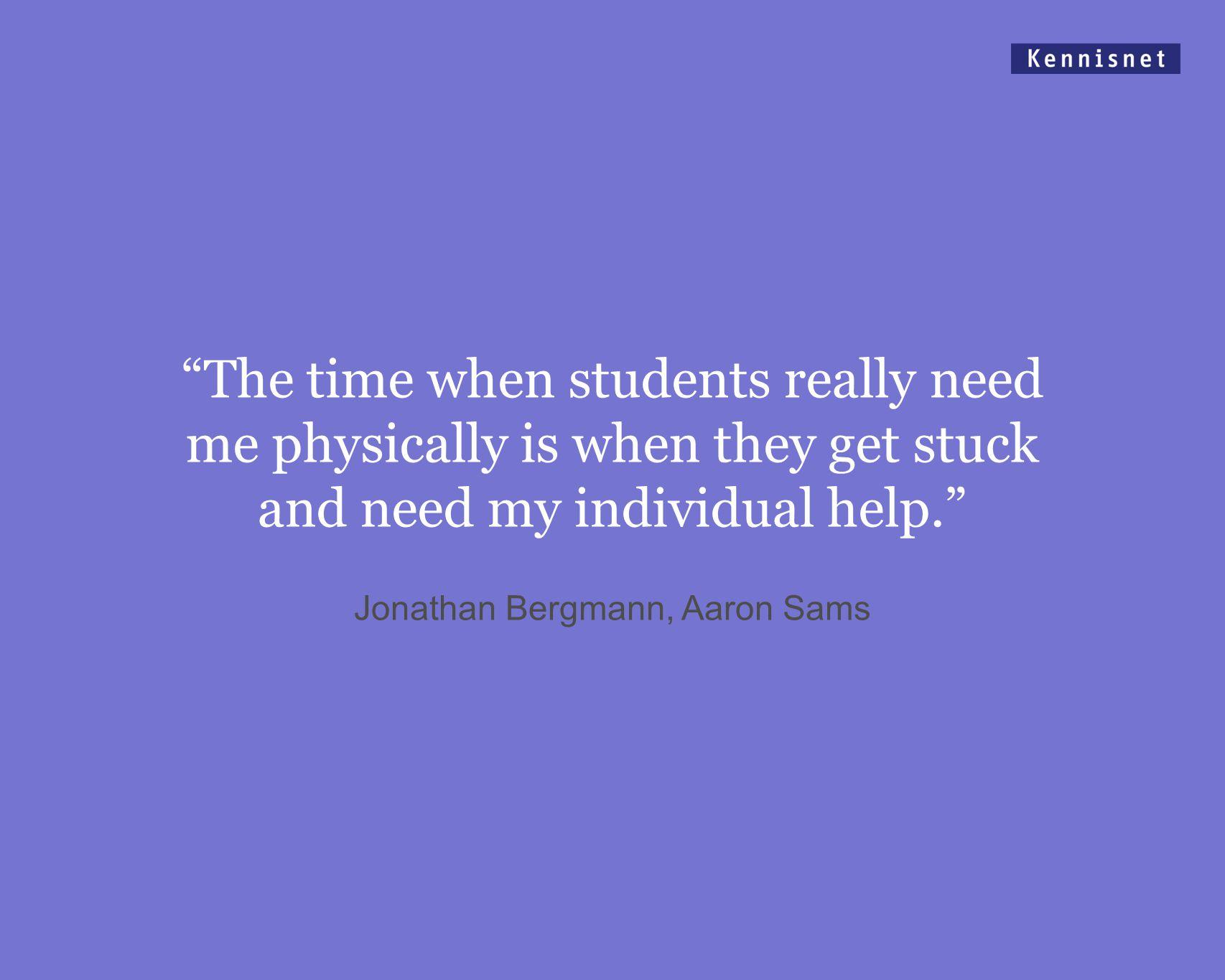 Jonathan Bergmann, Aaron Sams