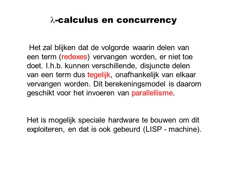 -calculus en concurrency
