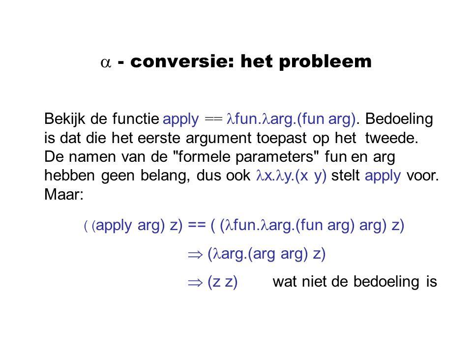  - conversie: het probleem
