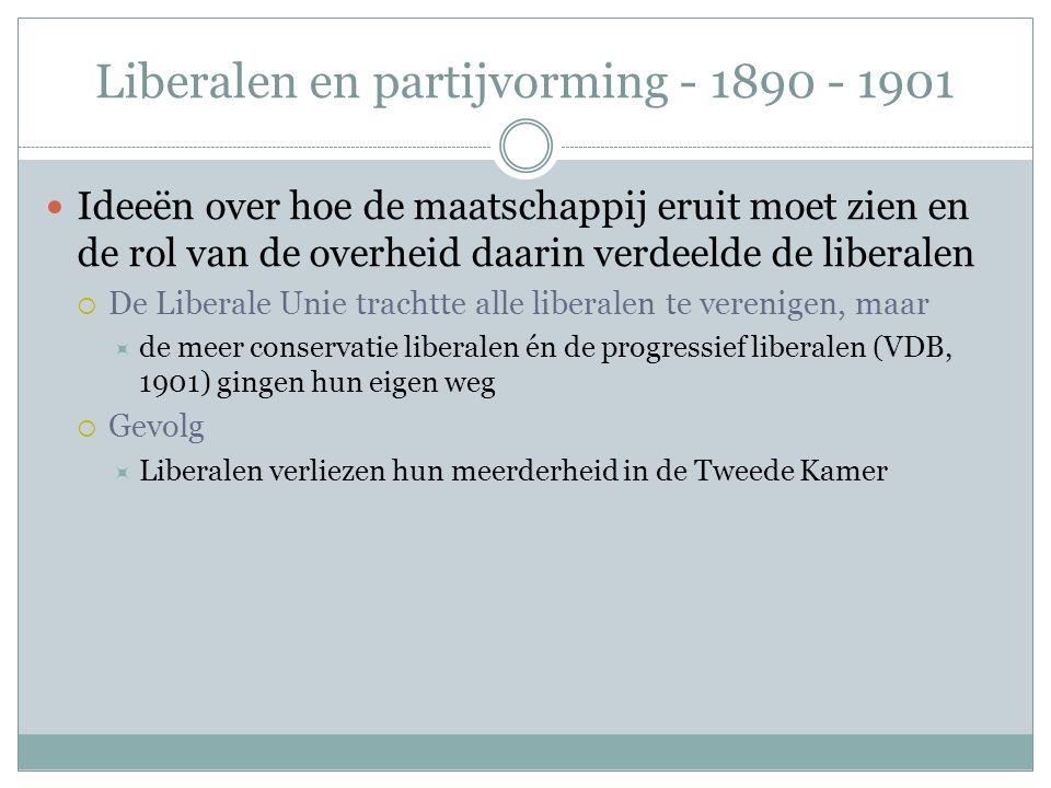 Liberalen en partijvorming - 1890 - 1901