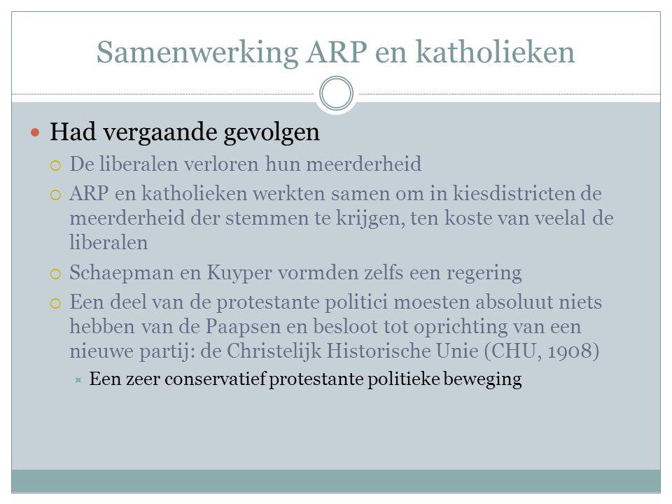 Samenwerking ARP en katholieken