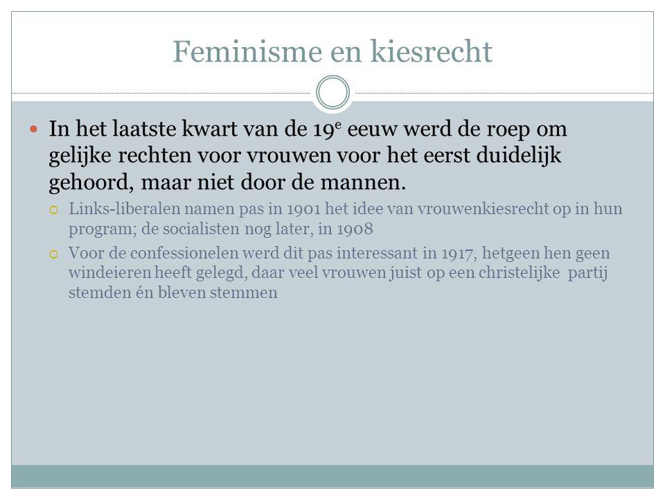 Feminisme en kiesrecht