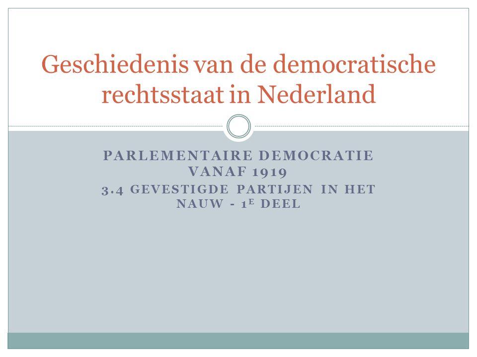 Geschiedenis van de democratische rechtsstaat in Nederland