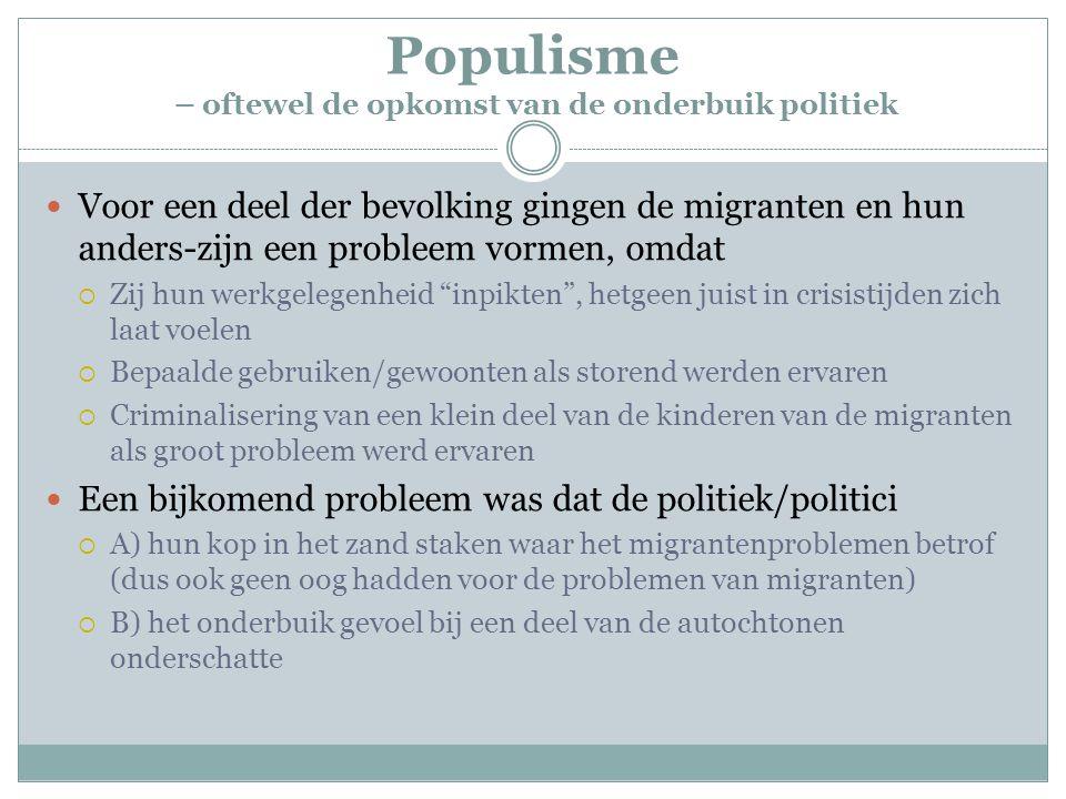 Populisme – oftewel de opkomst van de onderbuik politiek