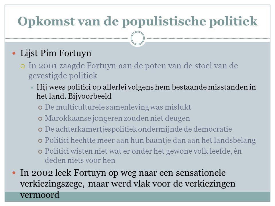 Opkomst van de populistische politiek
