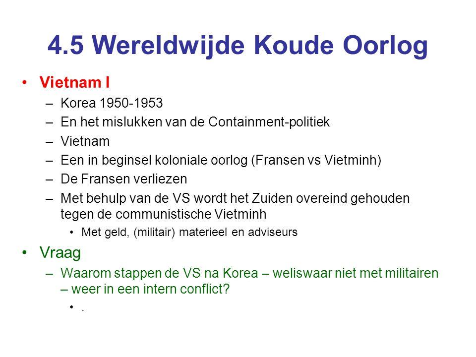4.5 Wereldwijde Koude Oorlog
