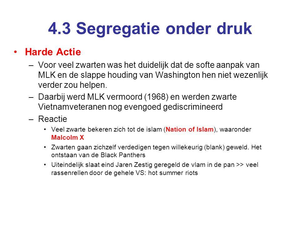 4.3 Segregatie onder druk Harde Actie