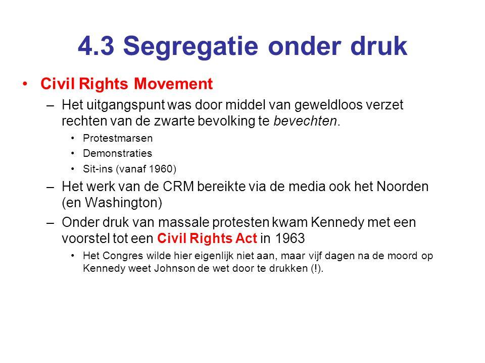 4.3 Segregatie onder druk Civil Rights Movement