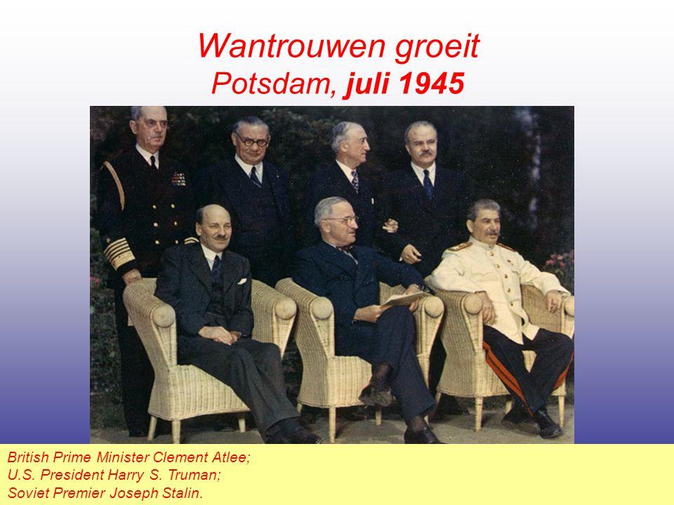 Wantrouwen groeit Potsdam, juli 1945
