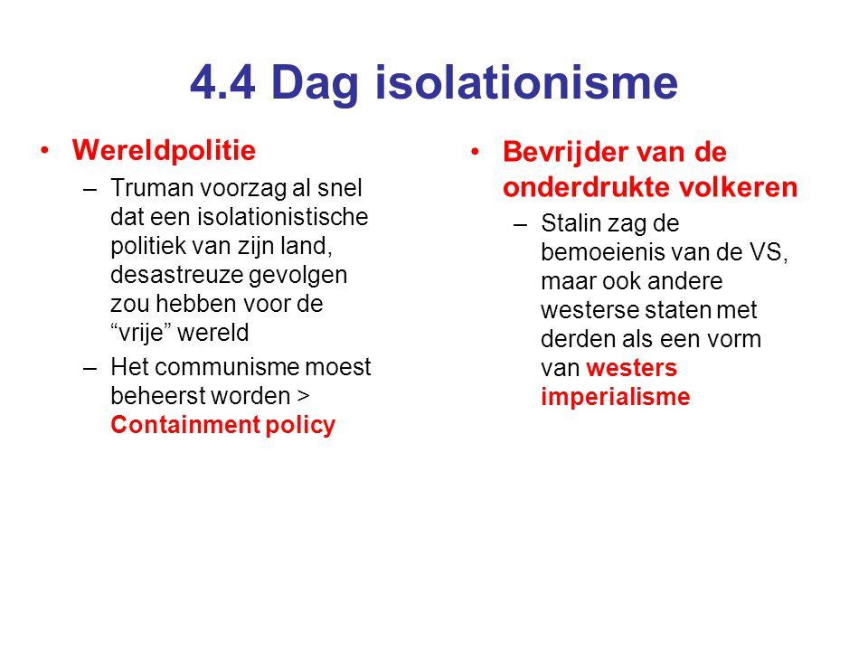 4.4 Dag isolationisme Wereldpolitie