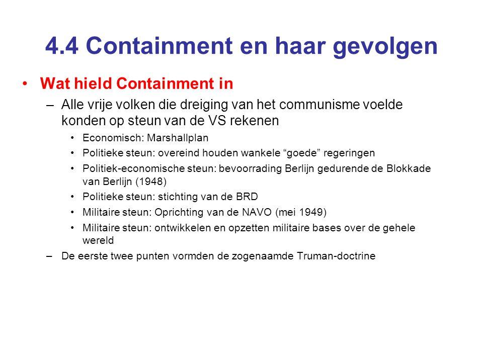 4.4 Containment en haar gevolgen