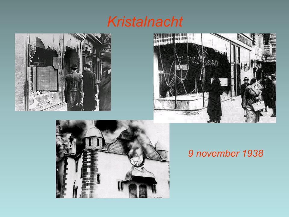Kristalnacht 9 november 1938