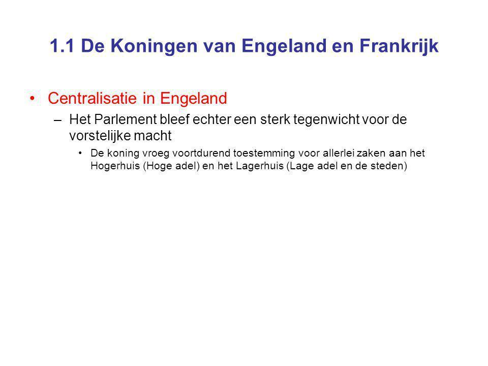 1.1 De Koningen van Engeland en Frankrijk