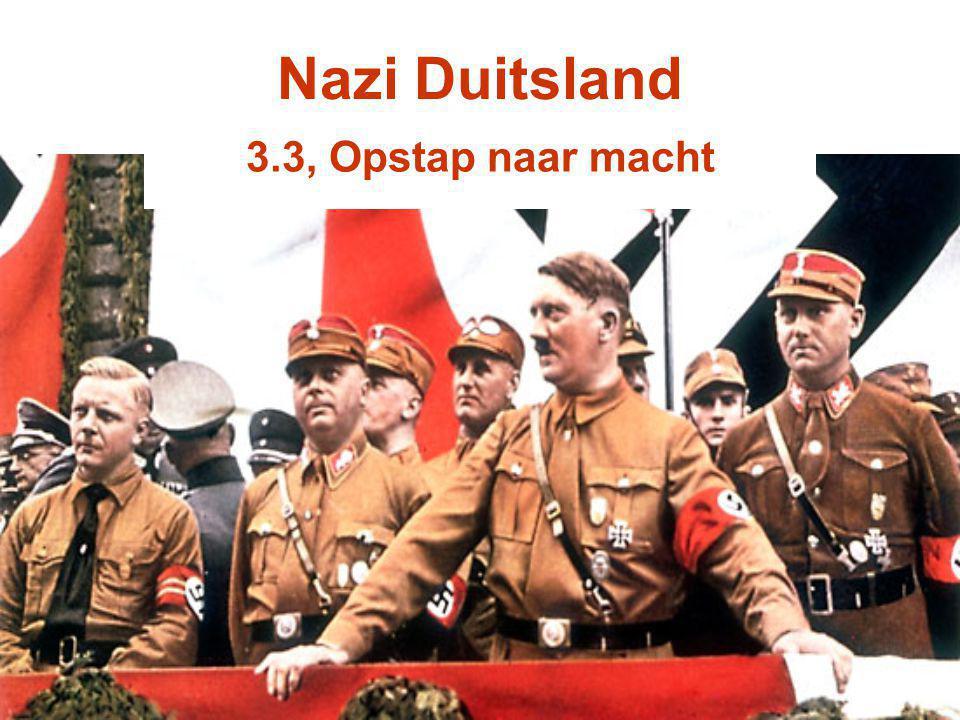 Nazi Duitsland 3.3, Opstap naar macht