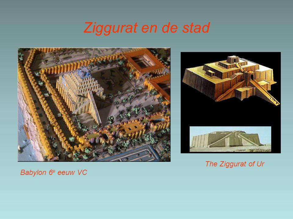 Ziggurat en de stad The Ziggurat of Ur Babylon 6e eeuw VC