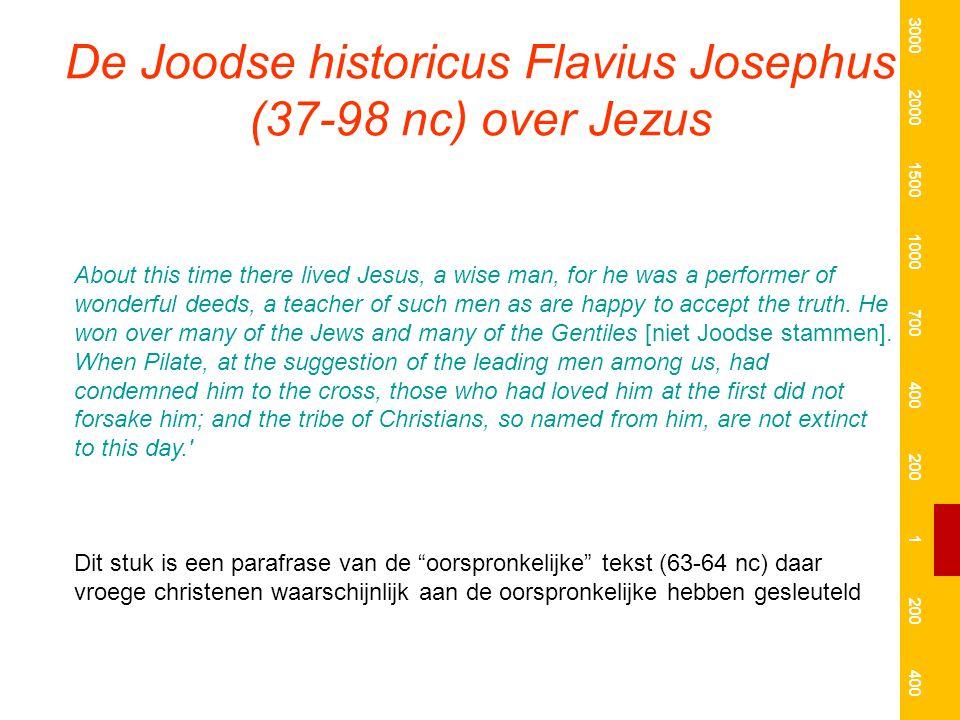 De Joodse historicus Flavius Josephus (37-98 nc) over Jezus