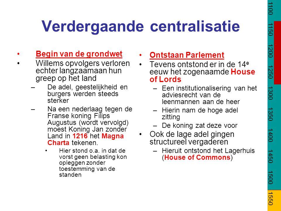 Verdergaande centralisatie