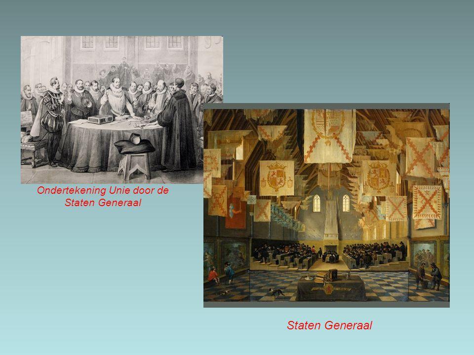 Ondertekening Unie door de Staten Generaal