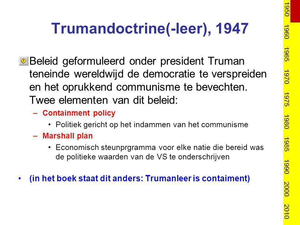 Trumandoctrine(-leer), 1947