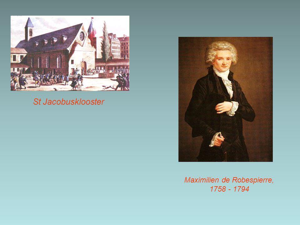 Maximilien de Robespierre, 1758 - 1794