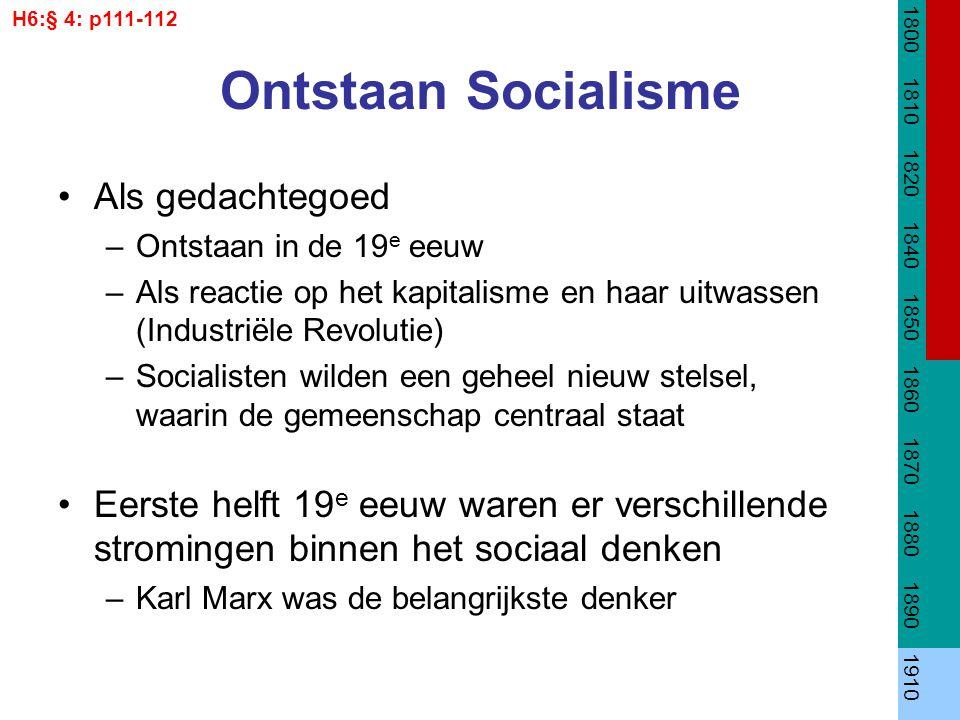 Ontstaan Socialisme Als gedachtegoed