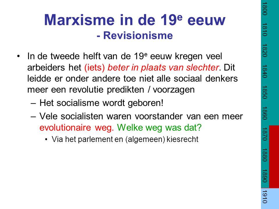 Marxisme in de 19e eeuw - Revisionisme