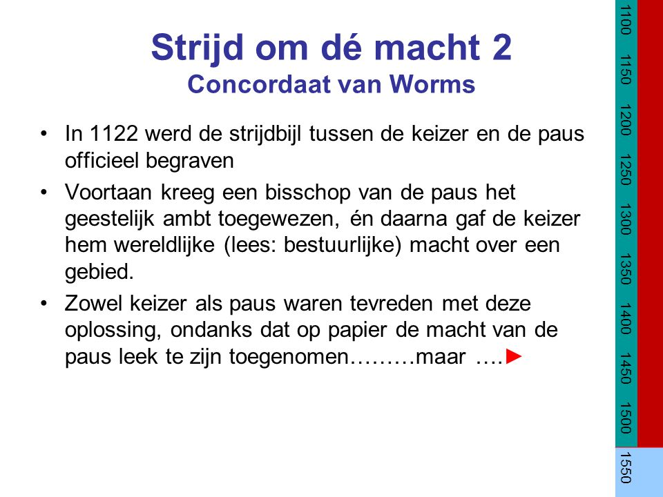 Strijd om dé macht 2 Concordaat van Worms