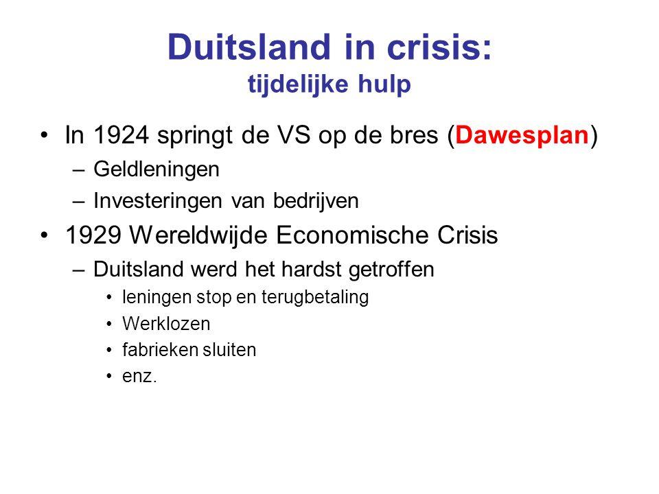 Duitsland in crisis: tijdelijke hulp