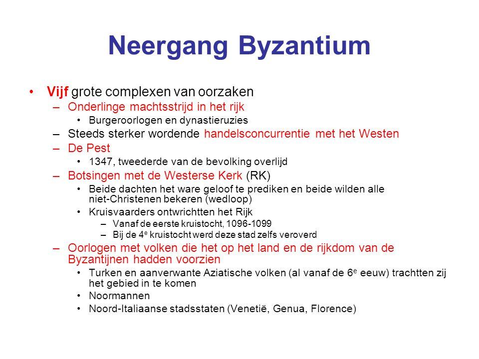 Neergang Byzantium Vijf grote complexen van oorzaken