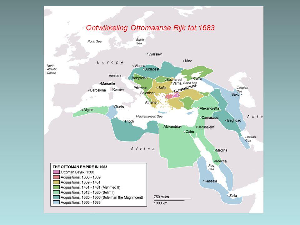 Ontwikkeling Ottomaanse Rijk tot 1683