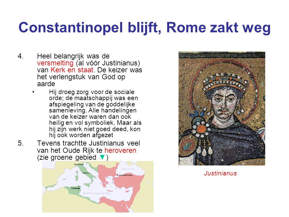 Constantinopel blijft, Rome zakt weg
