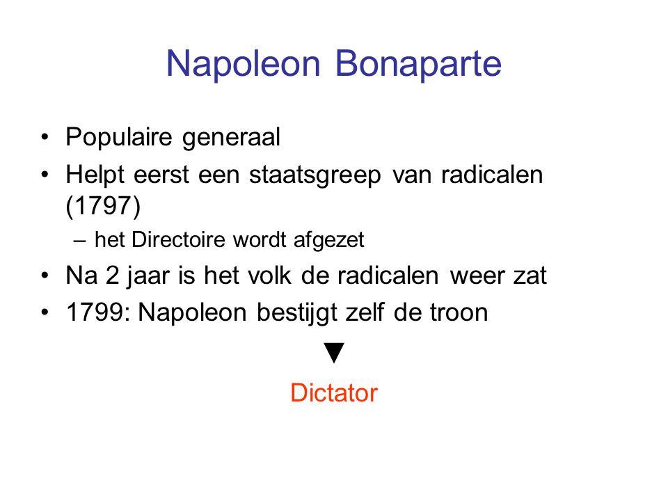 Napoleon Bonaparte ▼ Populaire generaal