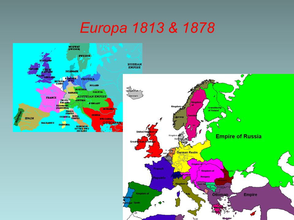Europa 1813 & 1878