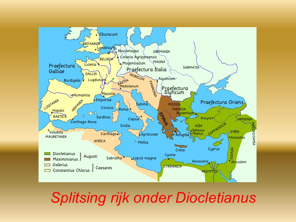 Splitsing rijk onder Diocletianus