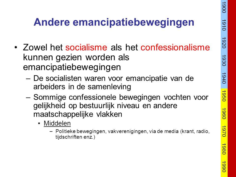 Andere emancipatiebewegingen